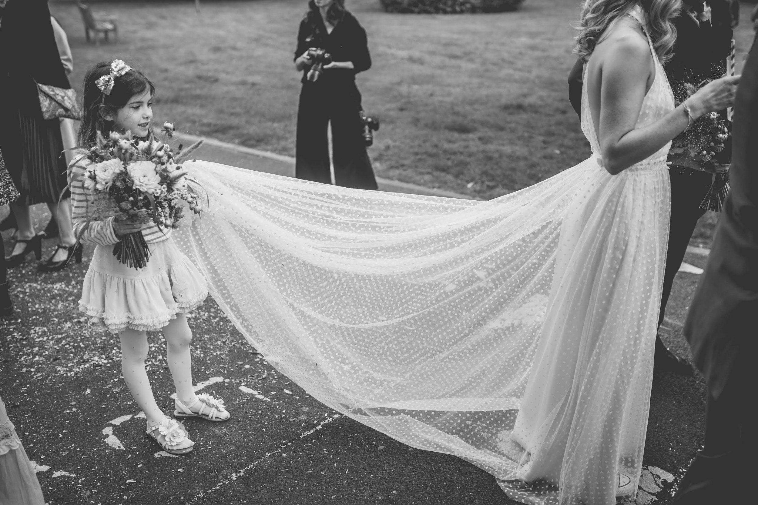 Beautiful bride Emma wore a wedding dress by Halfpenny London