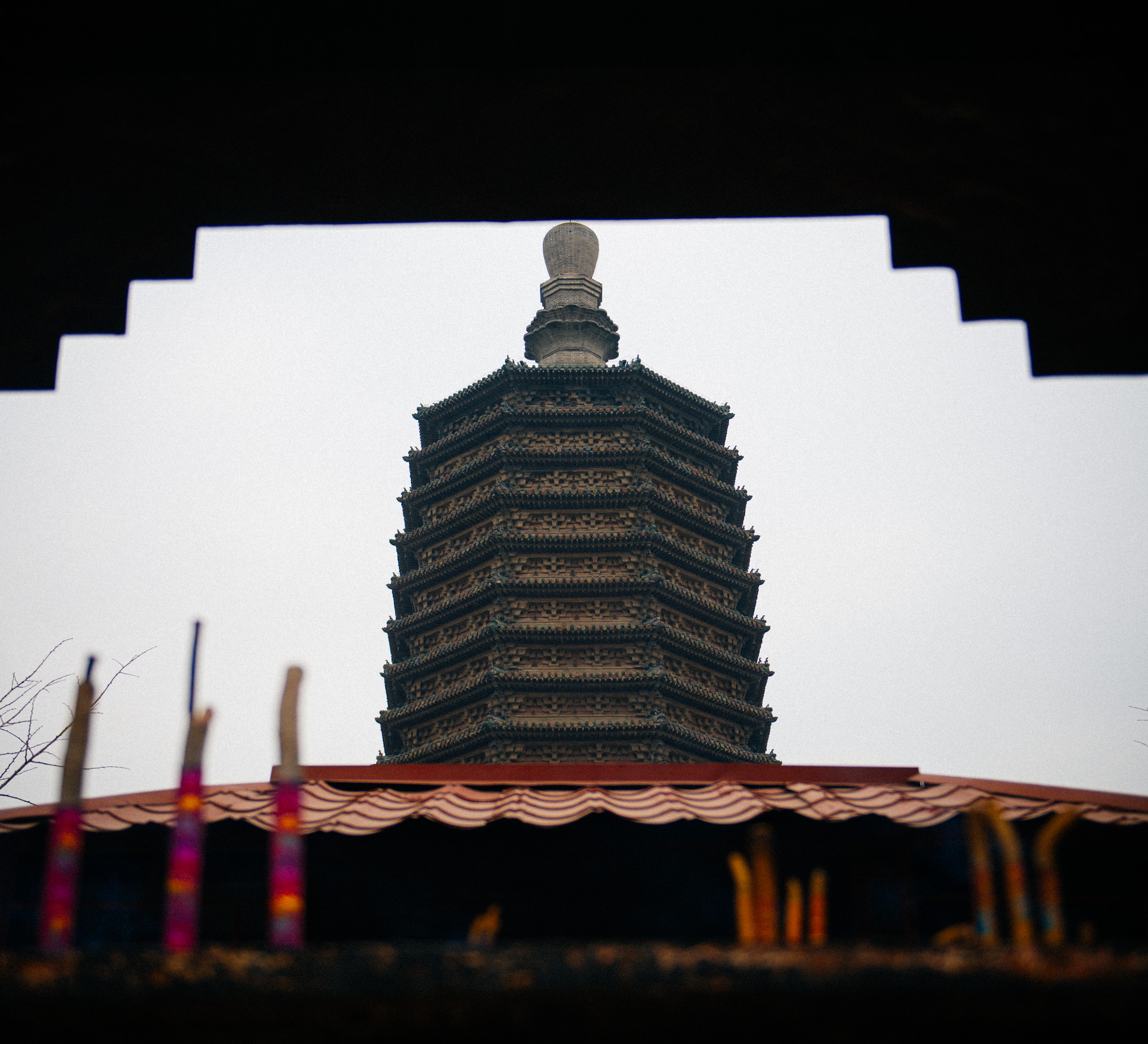 Like many ancient and historical structures in Beijing, if you didn't know it was there, you'd miss it. The pagoda is right in the middle of a residential area and is not a very famous tourist spot.