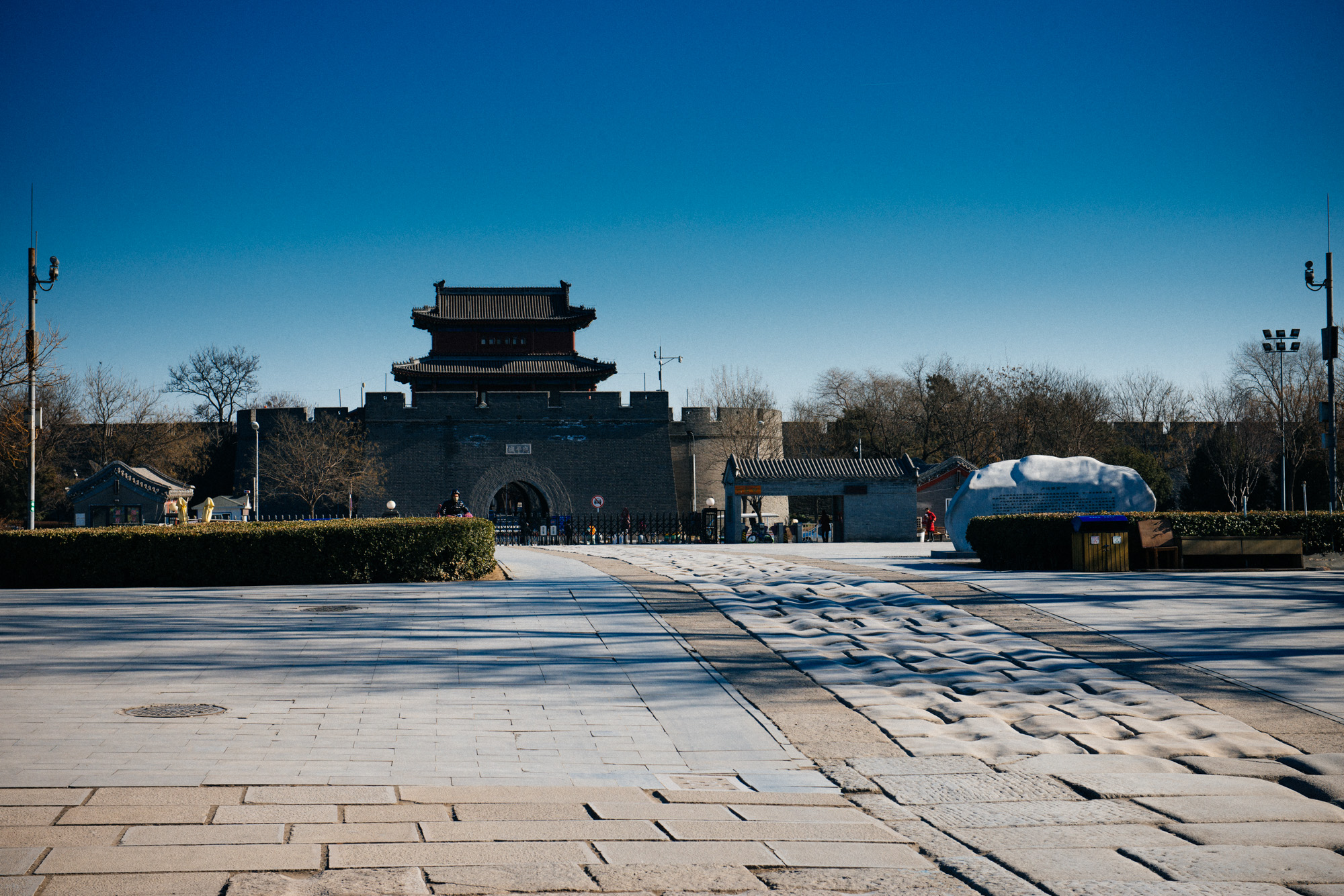The Wanping fortress' gate leads directly to the Marco Polo Bridge.