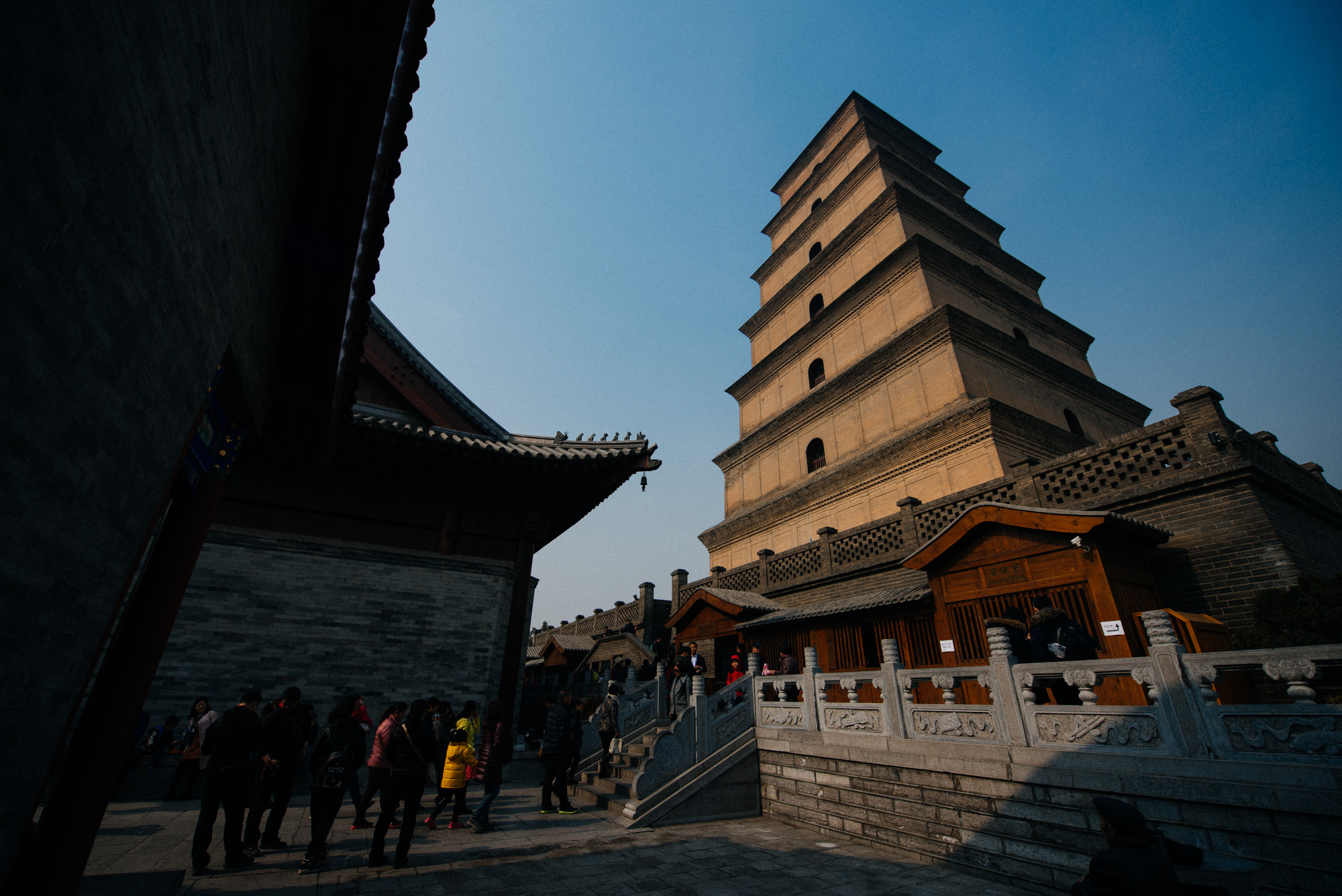 Standing 64m tall and with a history of almost 1000 years, the Giant Wild Goose Pagoda is an unmissable historical spot in Xi'an.