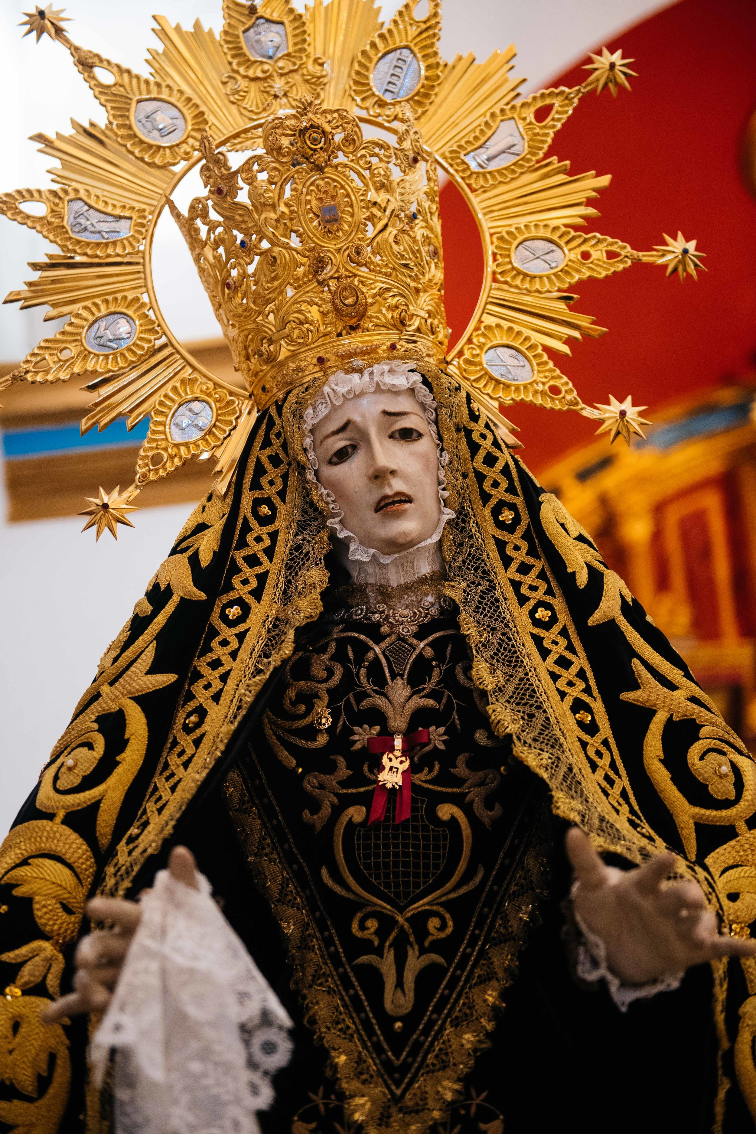 Statue of Our Lady of Anguish has been part of the Vera procession since 1680.