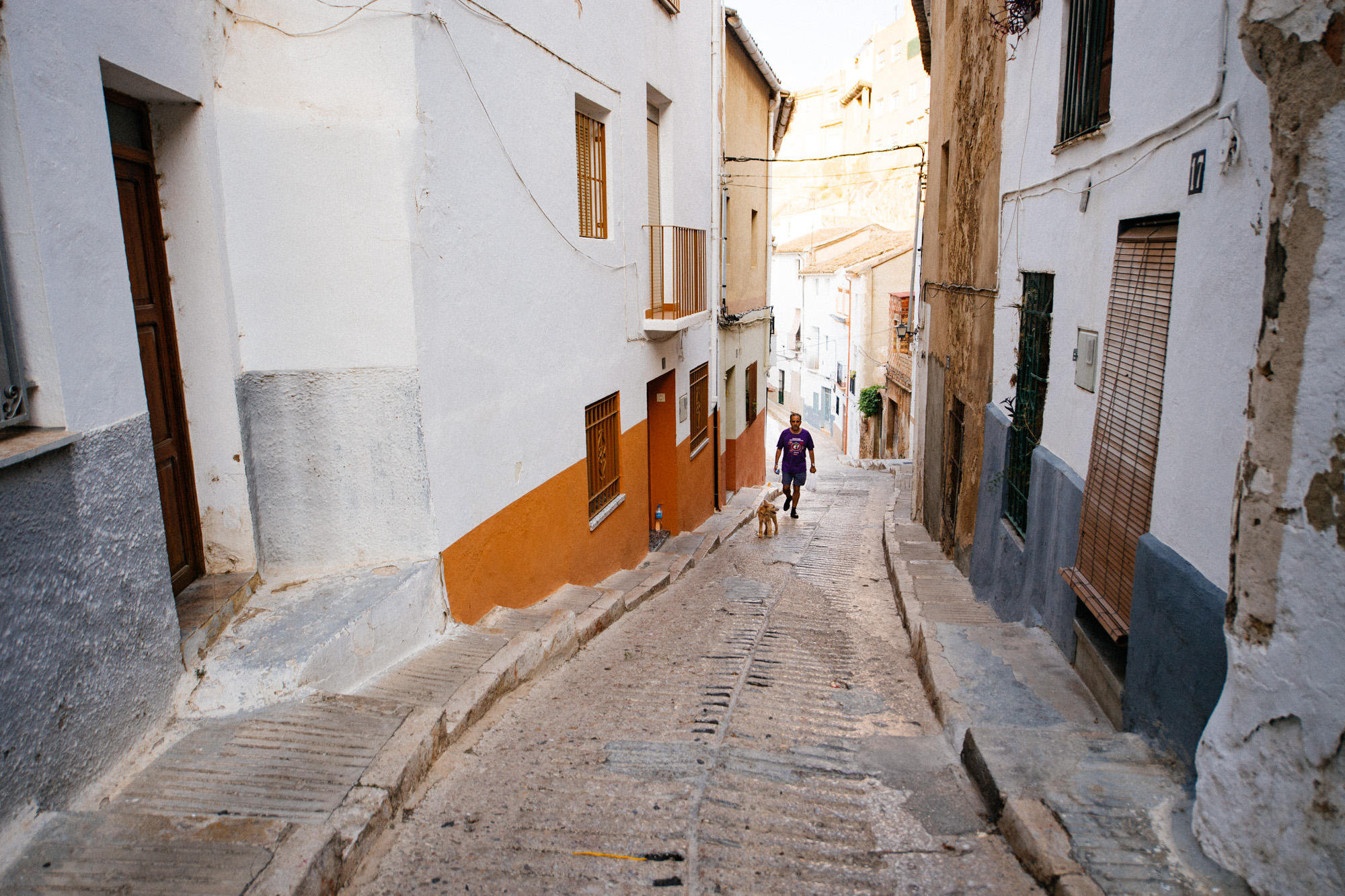 The medieval city is a typical Spanish  pueblo  with a castle and everything. Its quiet streets are transformed once a year.