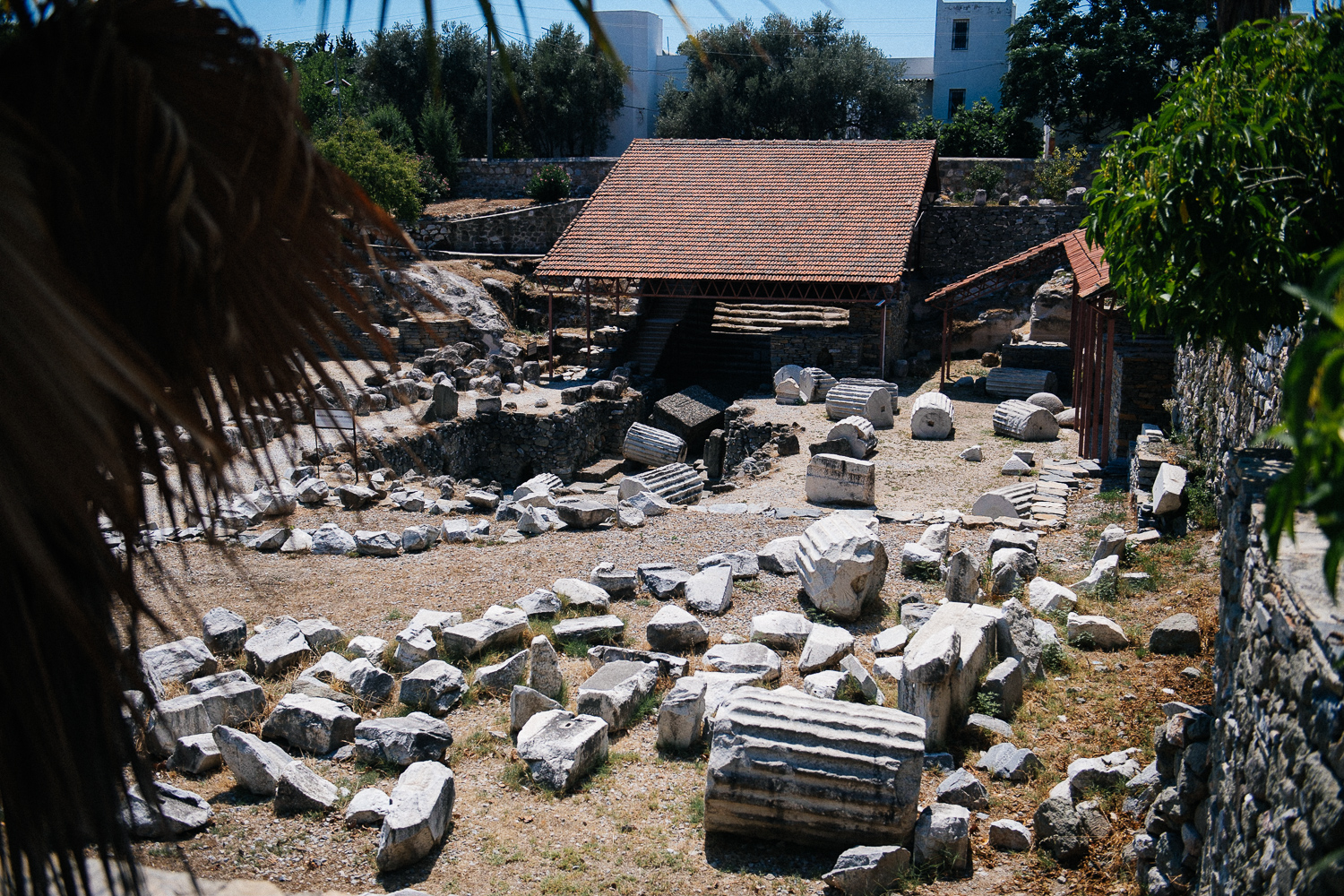 The great Mausoleum, that once stood 40 meters tall and 125 wide is now a pile of rocks.