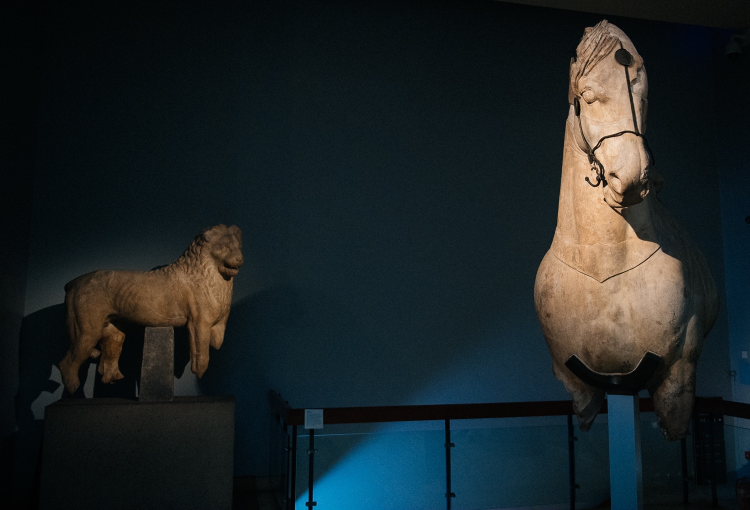 One of the four horses that stood on top of the Mausoleum is preserved in the British Museum, as are the lions that decorated the entrance.