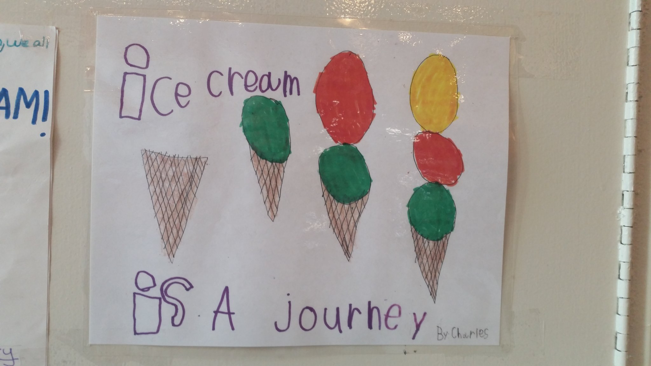 """I FOUND THIS ONLINE AND THOUGHT """" SWEET LITTLE KID, YES, ICE CREAM IS A JOURNEY"""""""