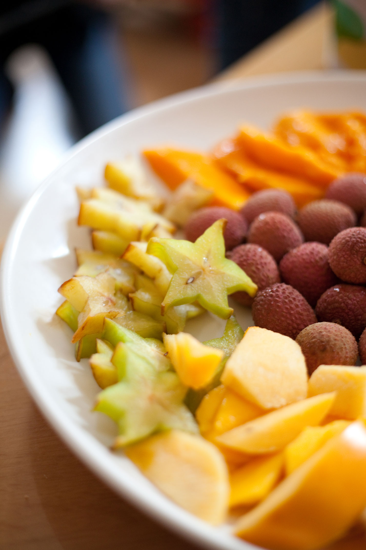 Litchis, Mangoes, and Starfruit