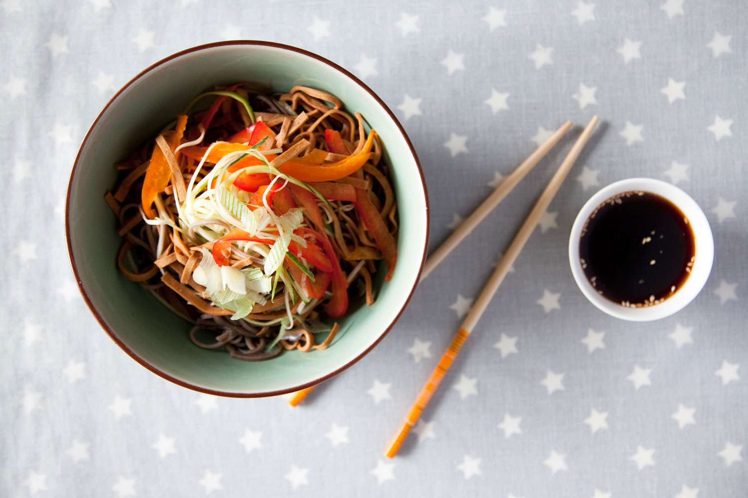 Soba Noodles with tofu strips