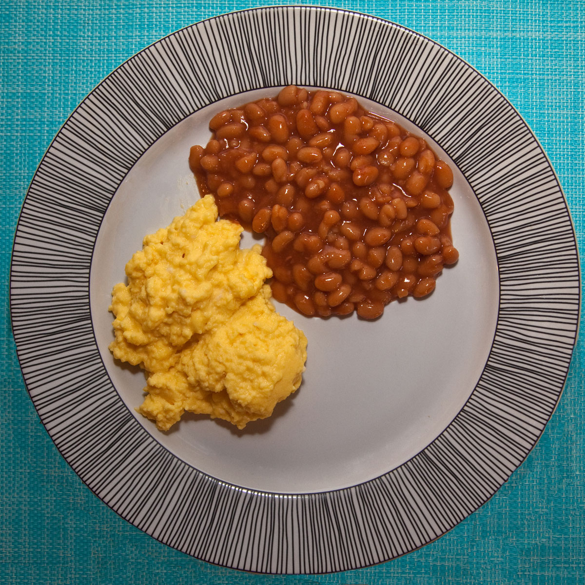 Scrambled Eggs and Beans