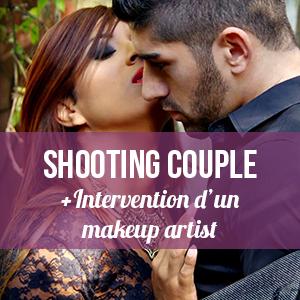 Shooting couple standard avec intervention d'un make up artist :     - 250 € sur facture pour 10 photos restituées post traitées