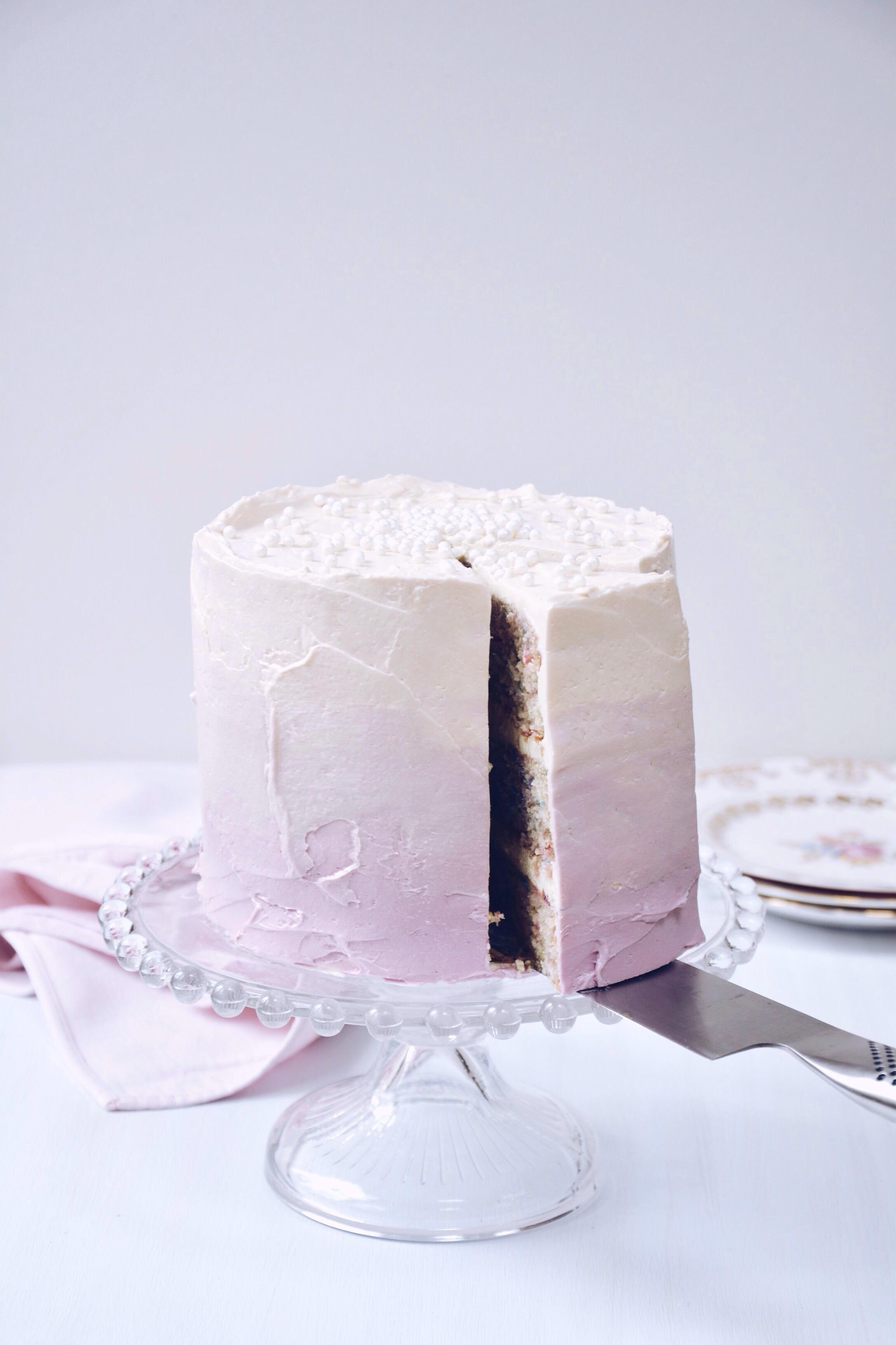 White Velvet Funfetti Cake | Thyme & Honey