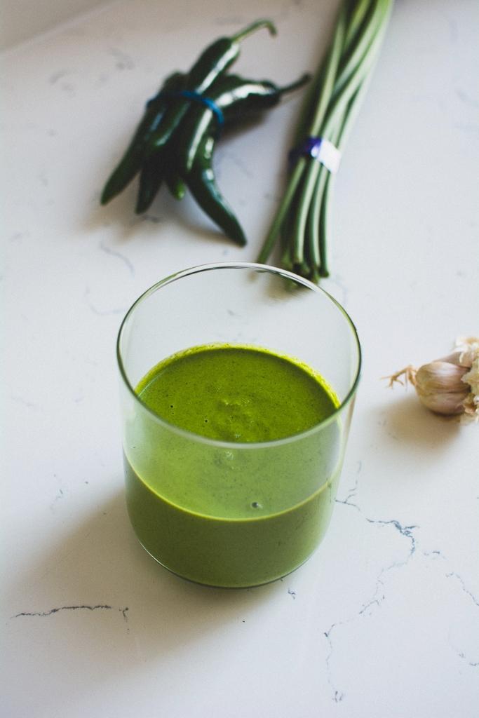Hot green tahini sauce | Gabriella Simonian