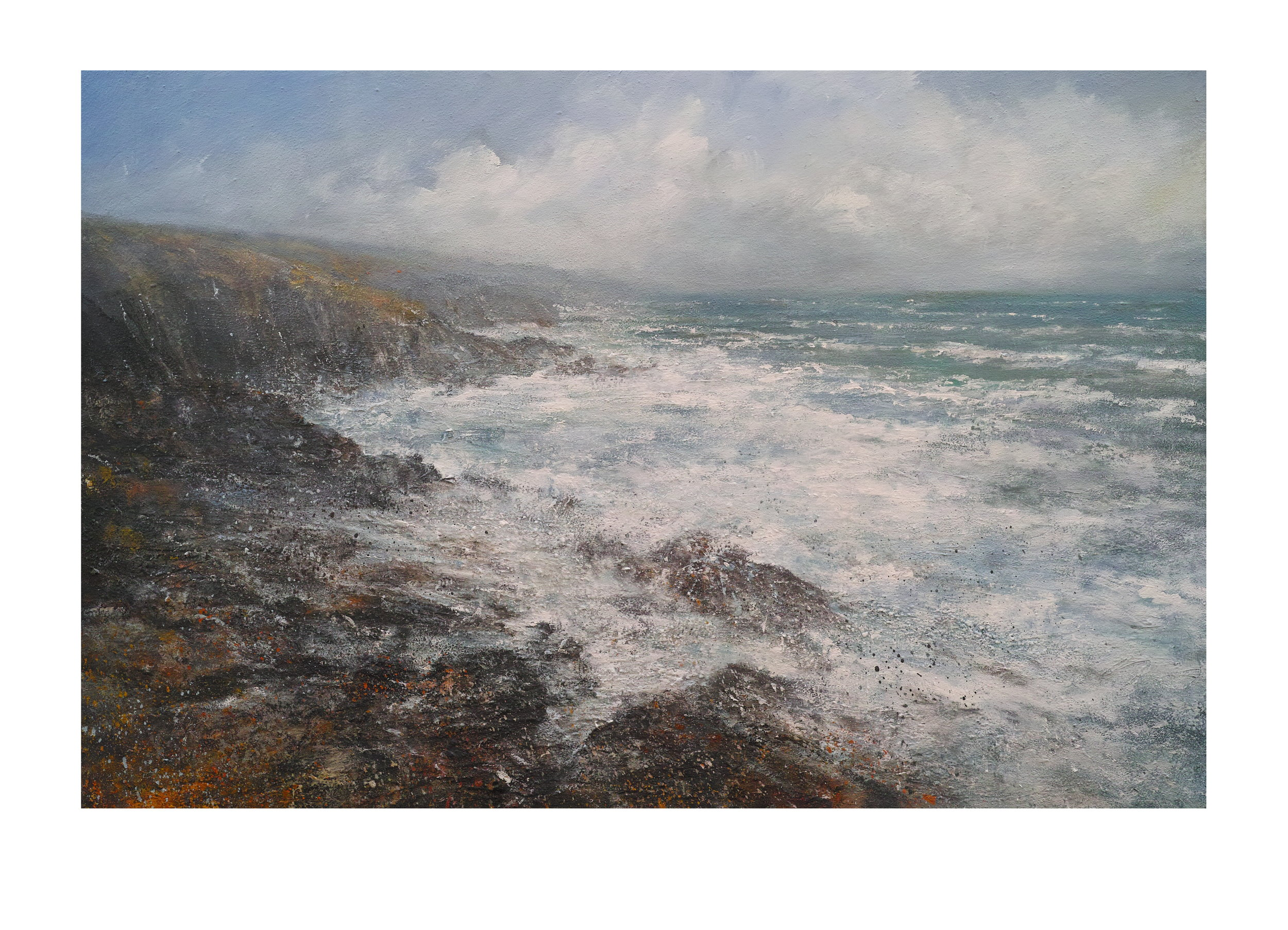Northerly Gale Carn Naum Point Zennor Head