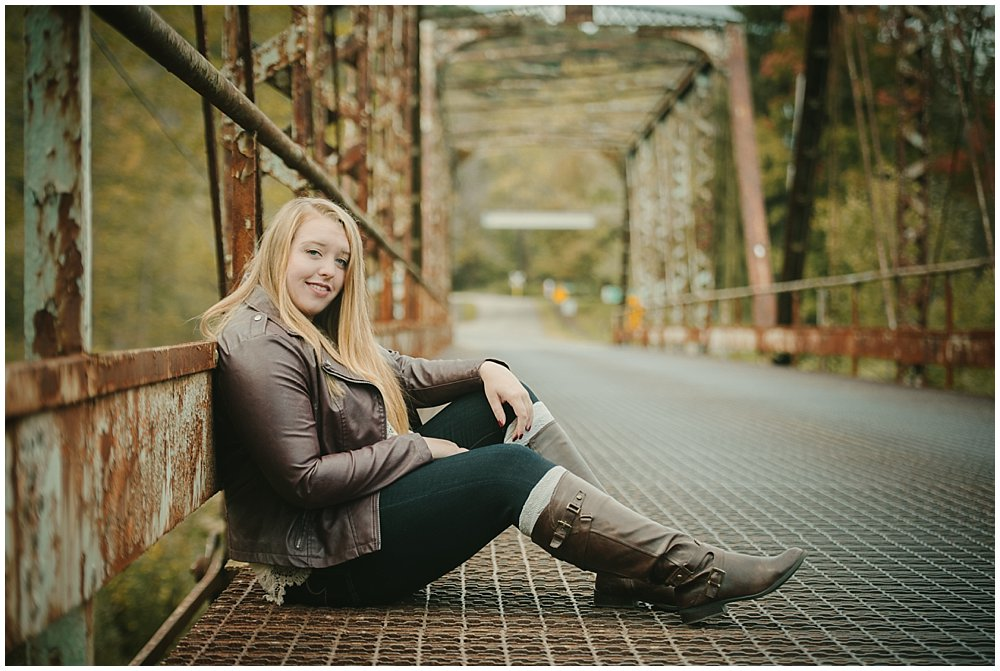 Oil City Pennsylvania senior photography at Petroleum Center in Oil Creek State Park