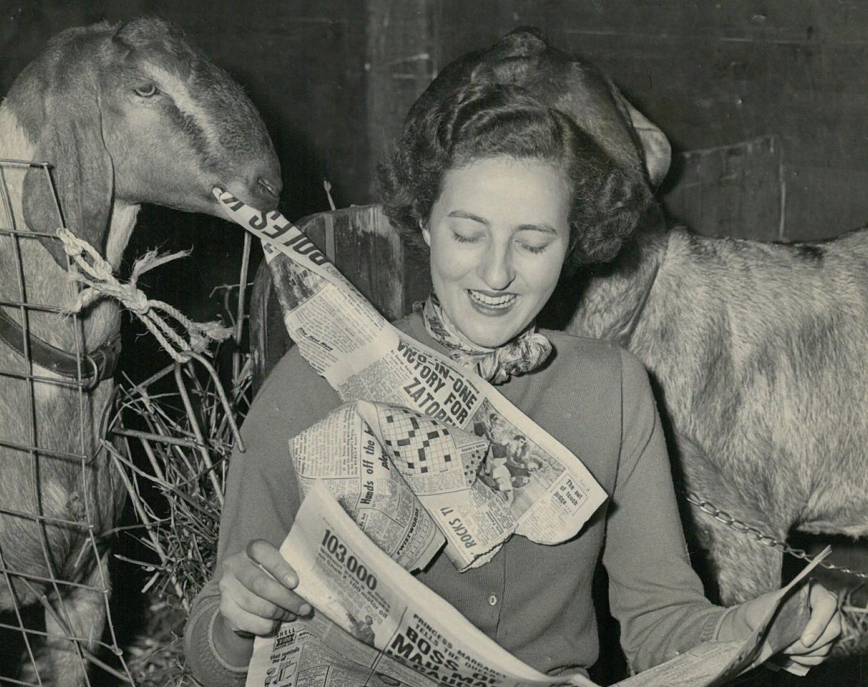 Miss Valerie Voyer Slee at Olympia 1956