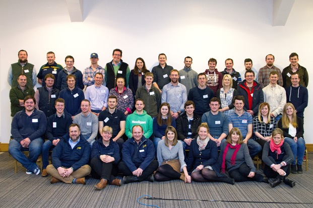 Students with their course organisers, front row