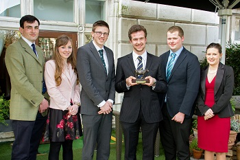 Winner, Andrew Harrison with from left, Louis Smith, Kirstie Baird, Cennydd Jones, Phillip Donaldson and Rachel Beasley