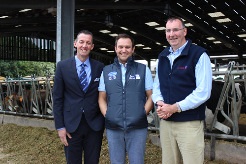 RABDF Chairman Mike King, Gold Cup winner and host Neil Baker and NMR Marketing Manager Jonathan Davies