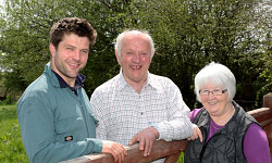 Tomos, Glyn and Myrtle Davies
