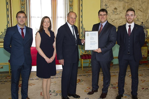 Members of the Herdwatch team receiving the Prince Philip Award at Buckingham Palace
