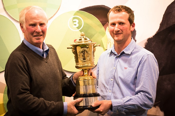 2016 Gold Cup Winners Roland (left) and Simon Bugler (right) from Pilsdon Dairy Farm, Dorset