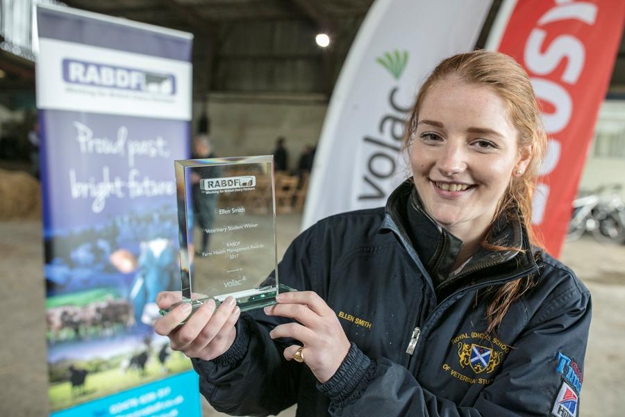 Ellen Smith, veterinary award winner from RDSVS, Edinburgh