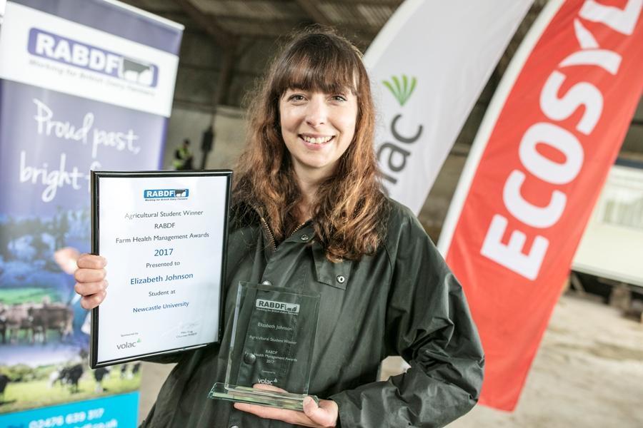 Elizabeth Johnson, agricultural award winner from Newcastle University