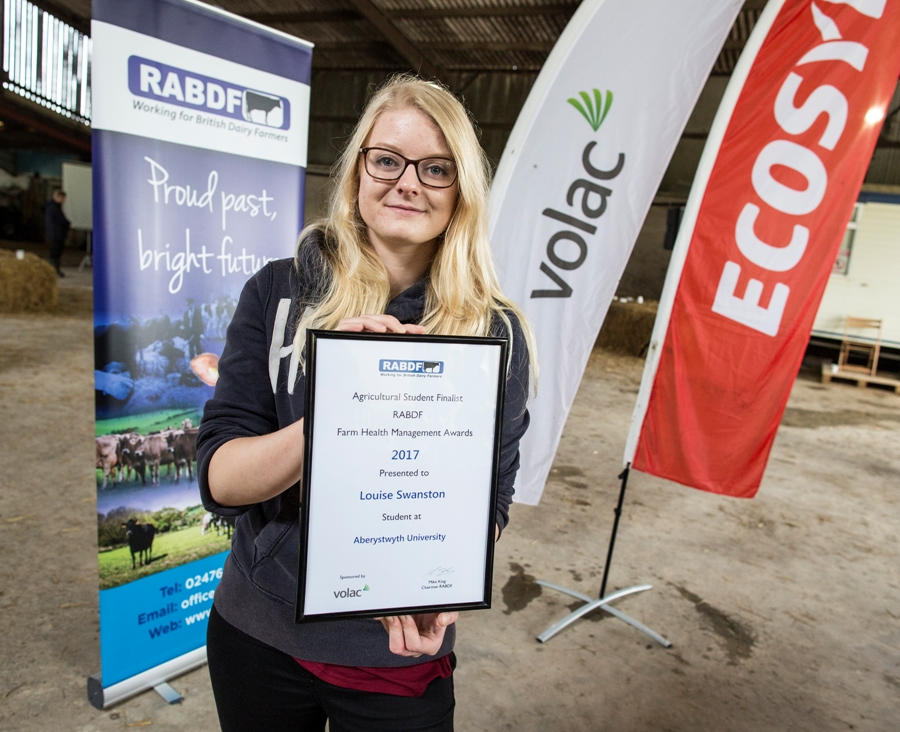 Louise Swanston, agricultural runner up, Aberystwyth University