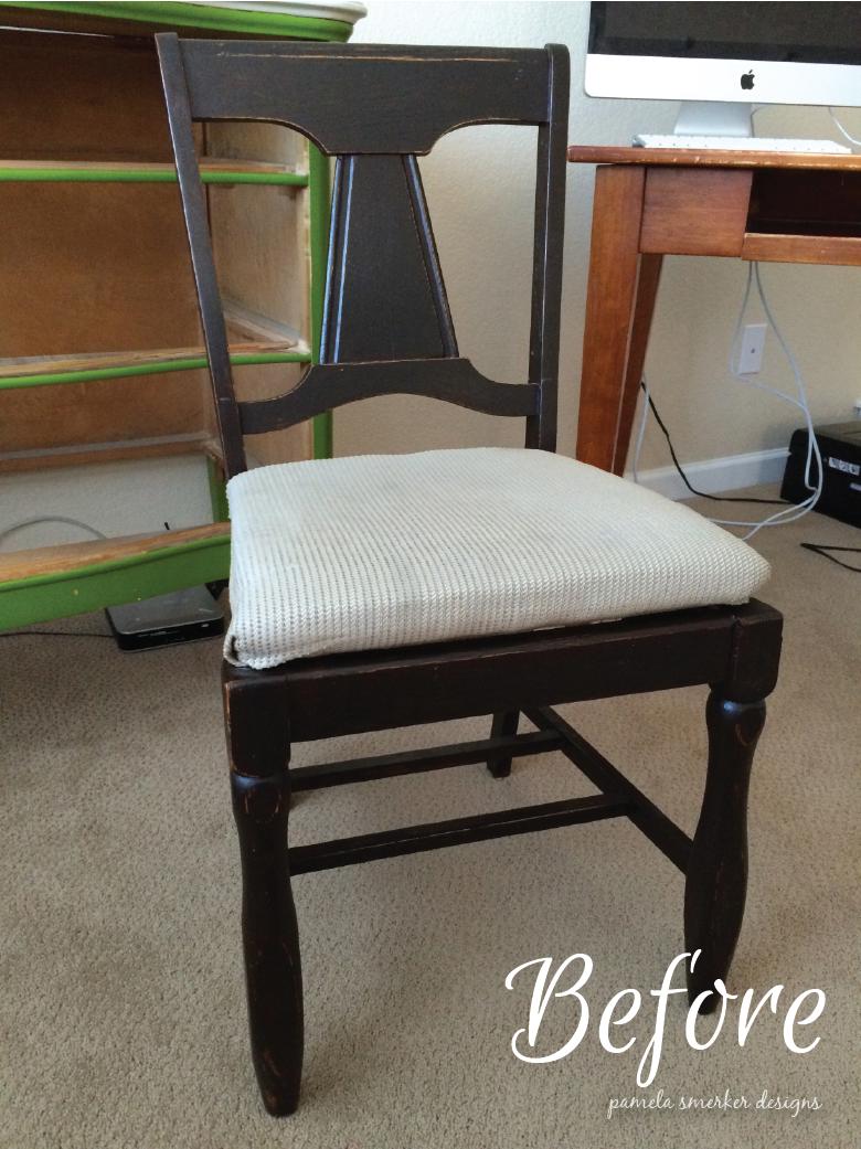Pamela Smerker Designs Studio Makeover Chair Before