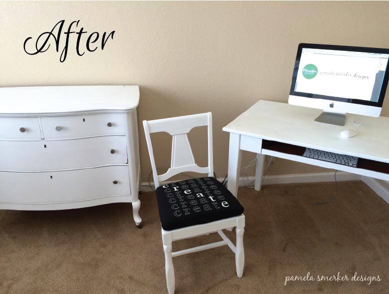 Pamela Smerker Designs Studio Makeover Desk and Dresser After