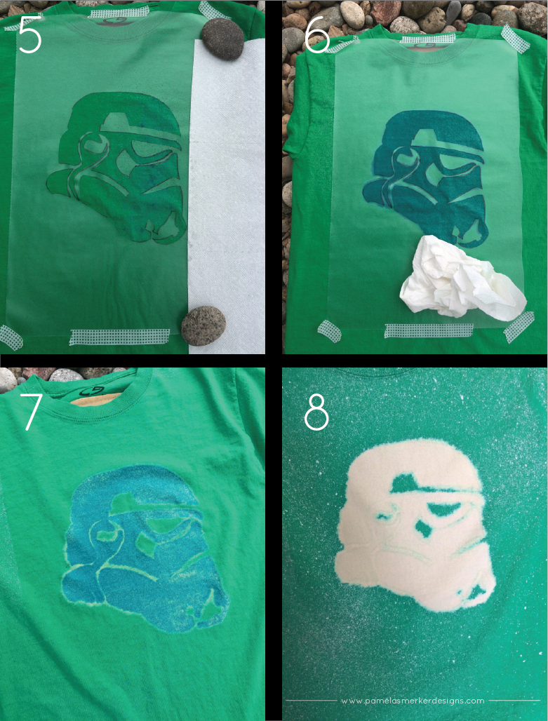 DIY Bleached Stormtrooper T-Shirt by Pamela Smerker Designs