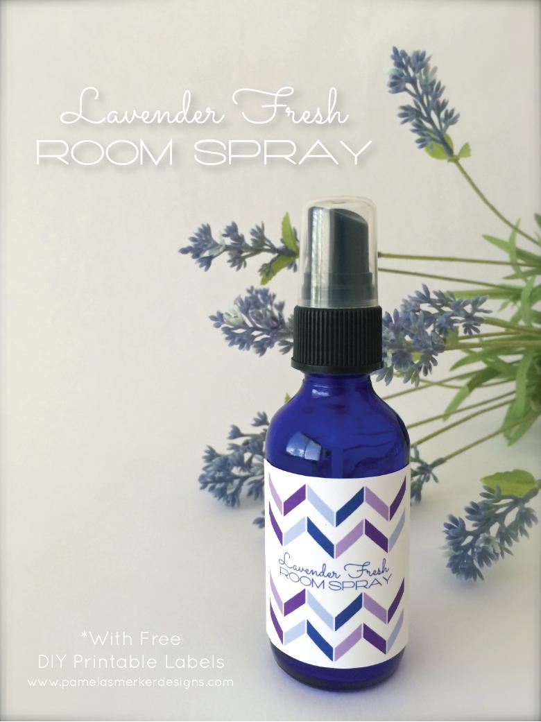 Quick and Easy Lavender Fresh Room Spray by Pamela Smerker Designs