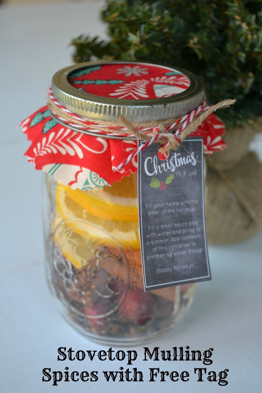 12 Days of Homemade Gifts {Christmas In a Jar With FREE Printable} by Sweet Threads Clothing