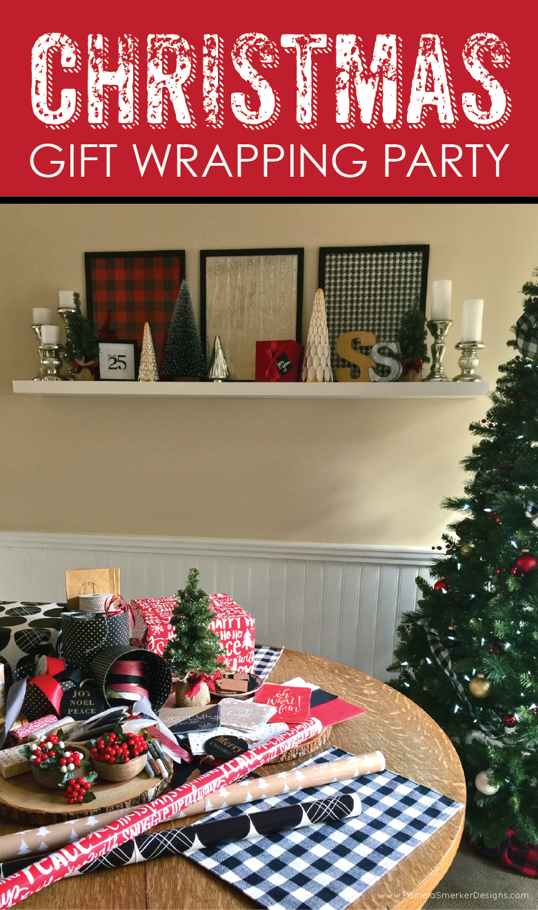 Christmas Gift Wrapping Party by Pamela Smerker Designs