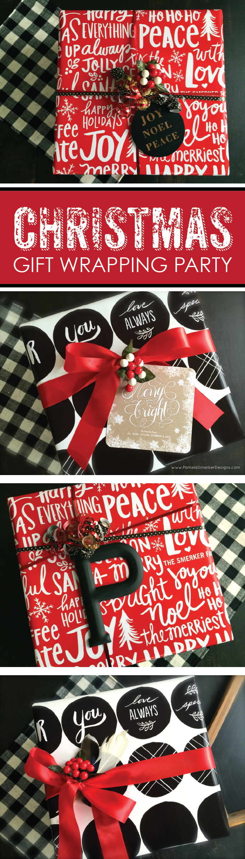 DIY Christmas Gift Wrapping Party