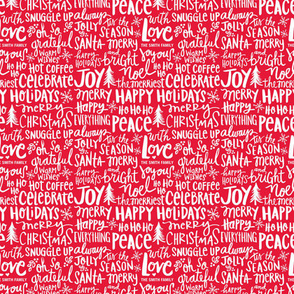 Tiny Prints Joyful Jargon Red Gift Wrap