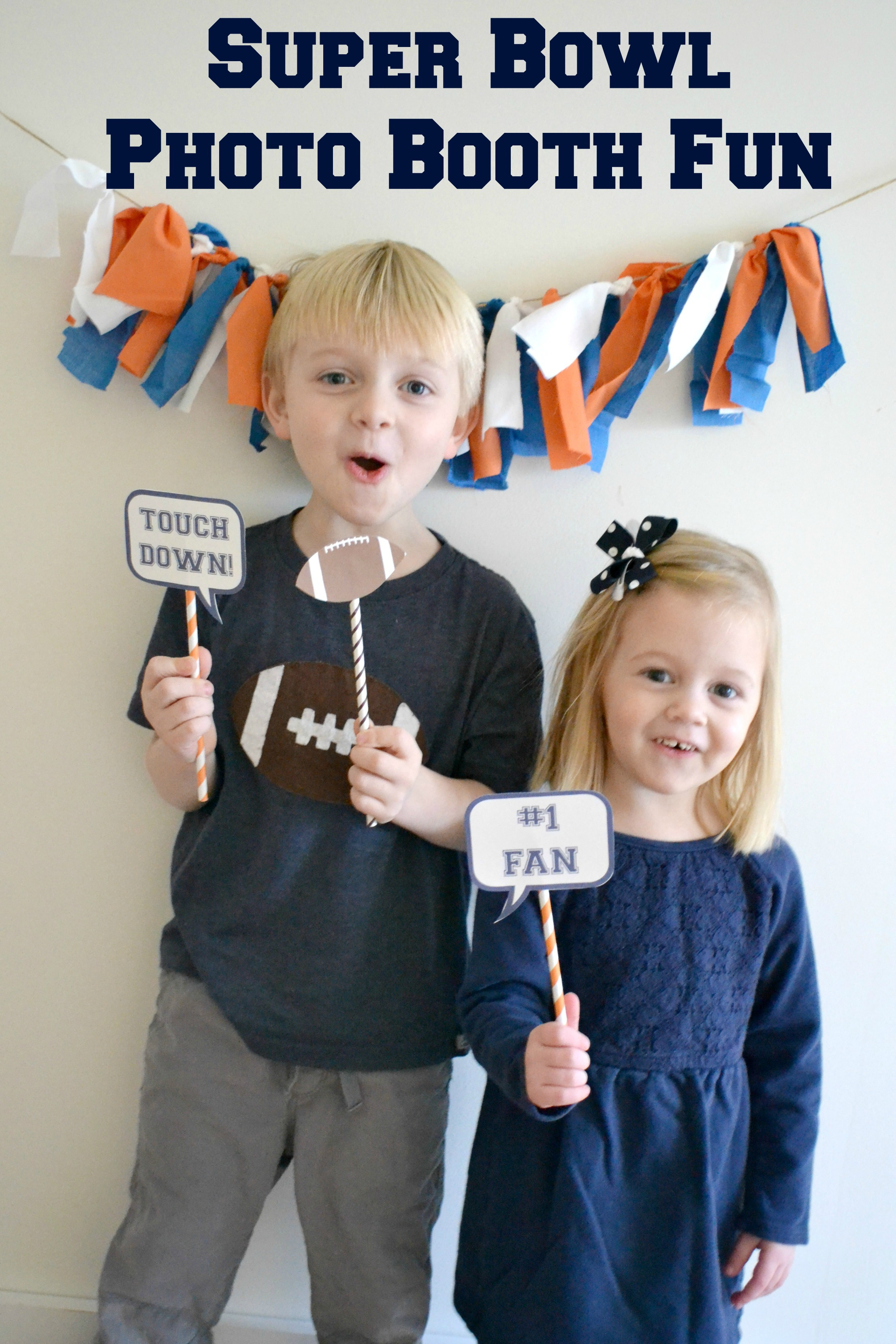 DIY Football Fan Photo Booth Props by Sweet Threads Clothing