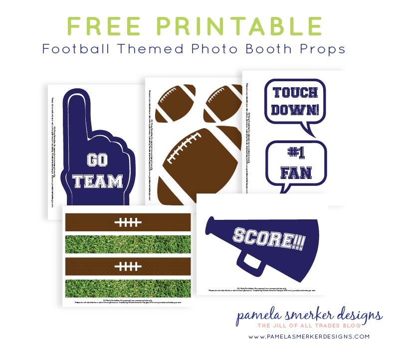 Super Bowl Party Inspiration. DIY Football Fan Photo Booth Props by Pamela Smerker Designs