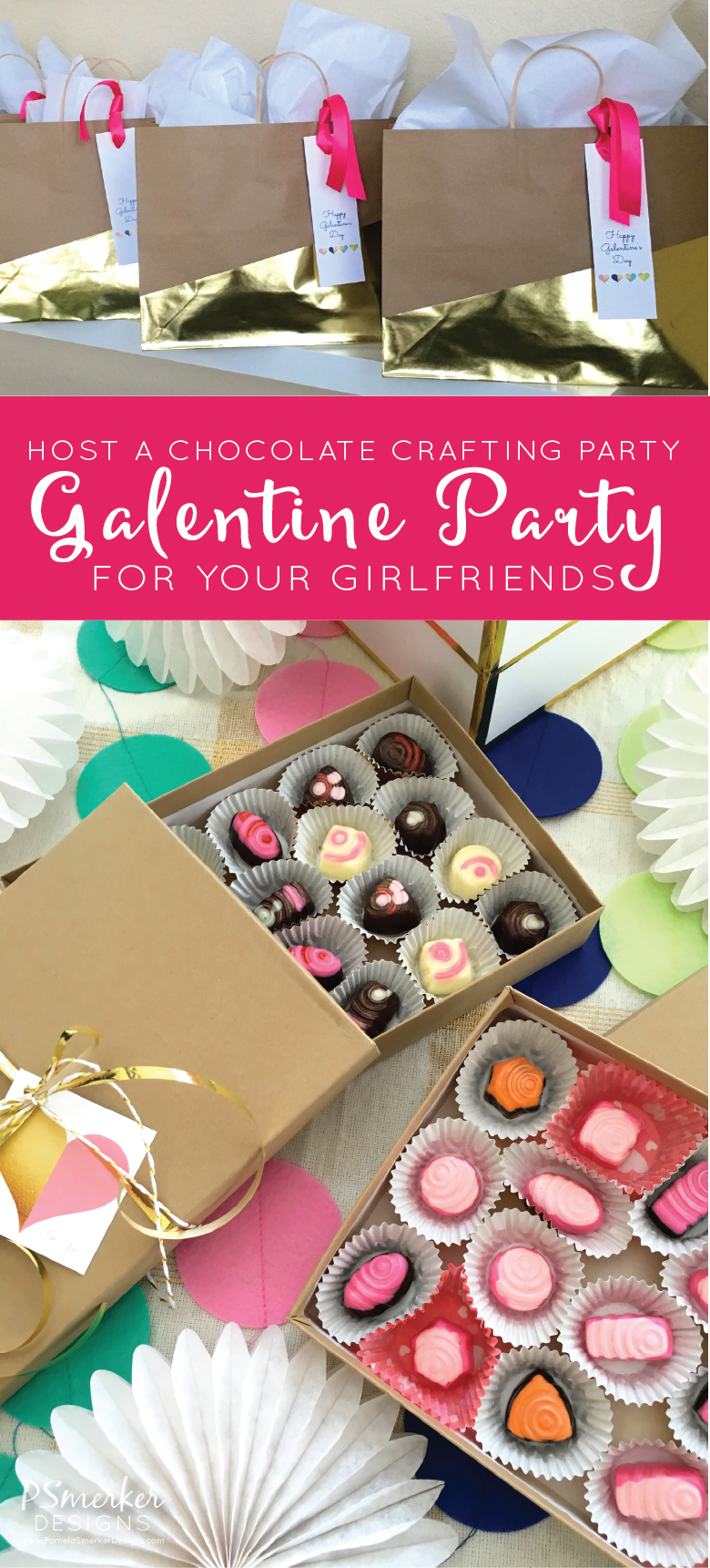 Chocolate Crafting Galentine Party by Pamela Smerker Designs