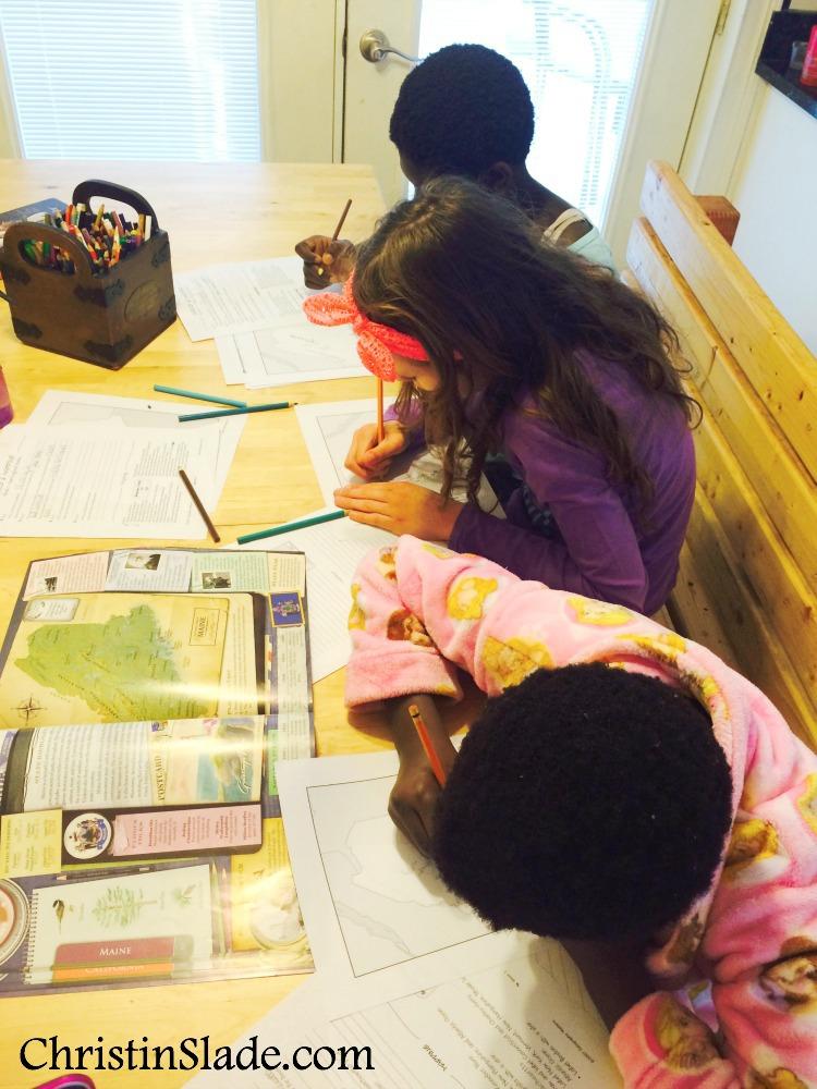Children Doing Map Work