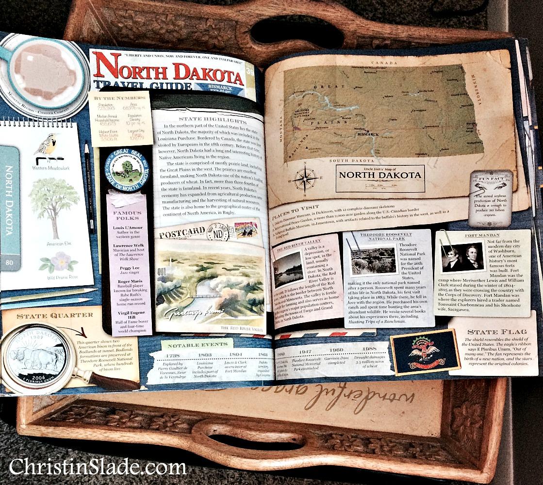Two Page Spread Desk Atlas