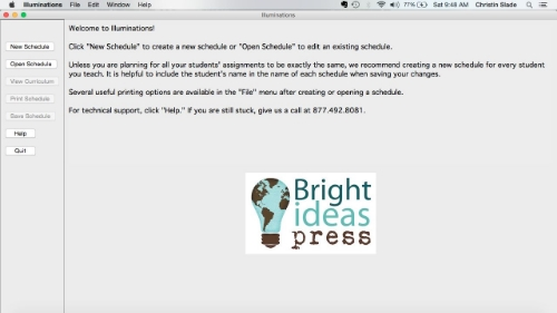 Bright Ideas Press Illuminations Software