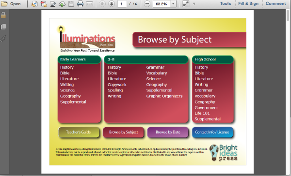 Illuminations Curriculum Software
