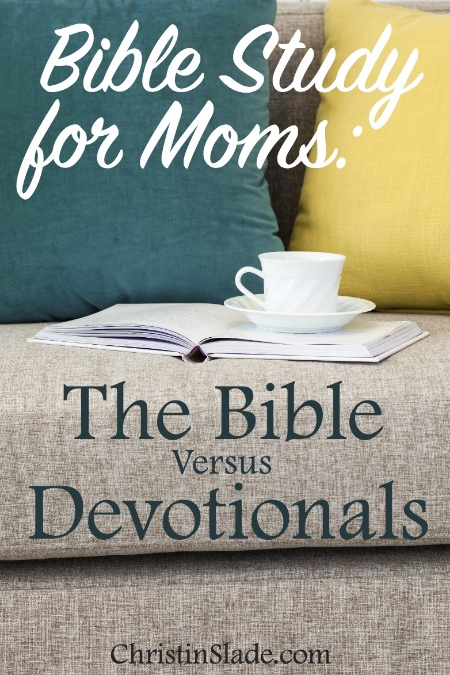Devotionals should never be a replacement for God's word, but instead be read alongside, or not at all.