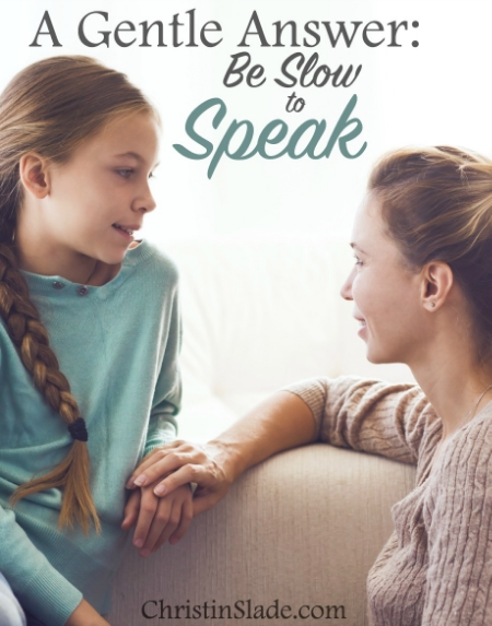 Learning to control our tongue isn't just about talking nice to our children. It's also about building connection with them and avoiding unnecessary conflict.