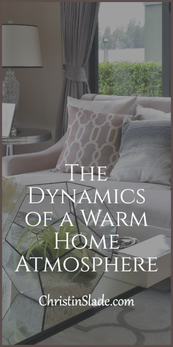 There are many elements that create what a home is made up of. One of the most important aspects I have found to be true of what a home is is its atmosphere.