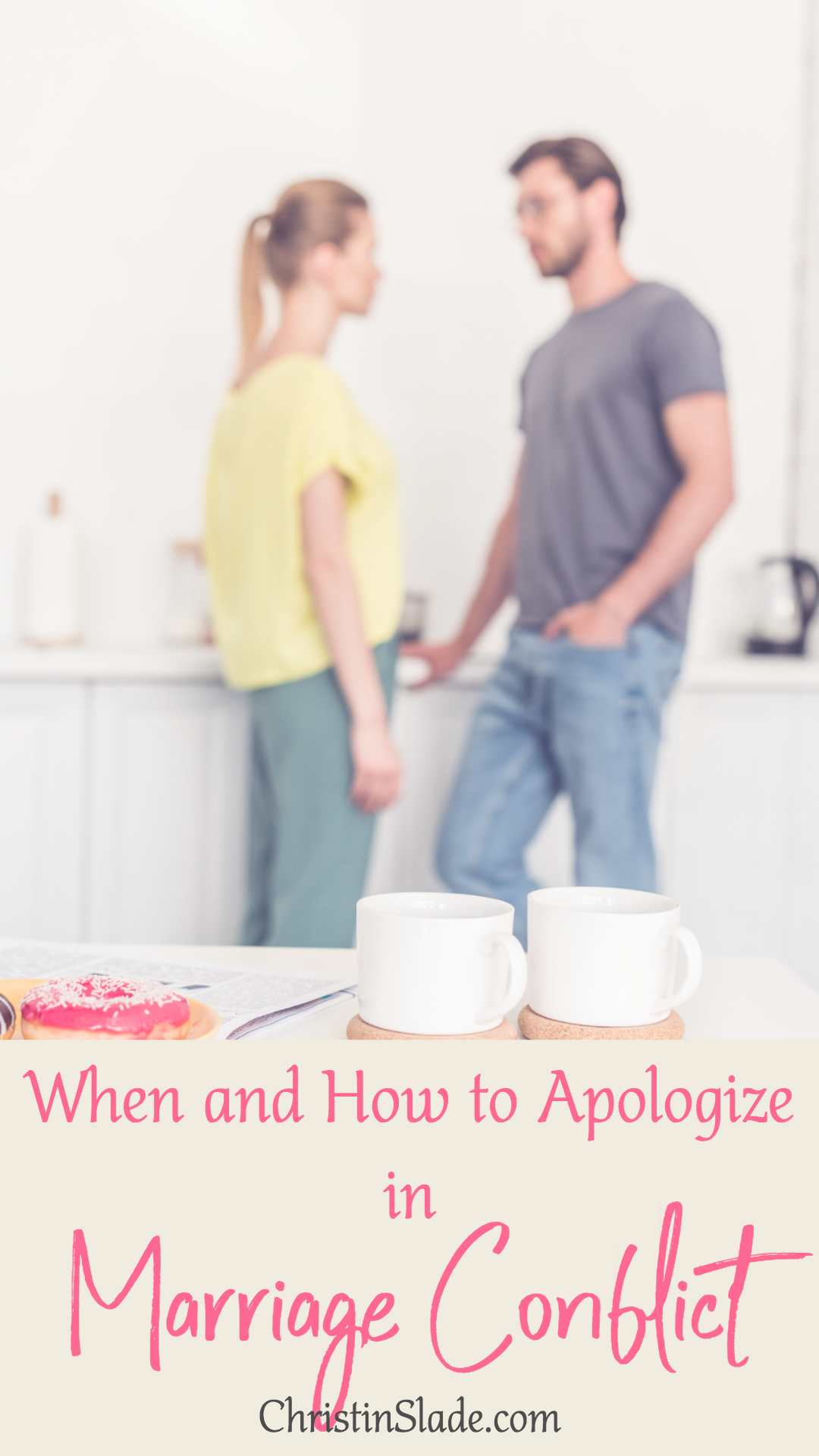 When we apologize, it helps diffuse the heat. It allows for the conflict to be addressed, if necessary, without either party being hot-headed or defensive.