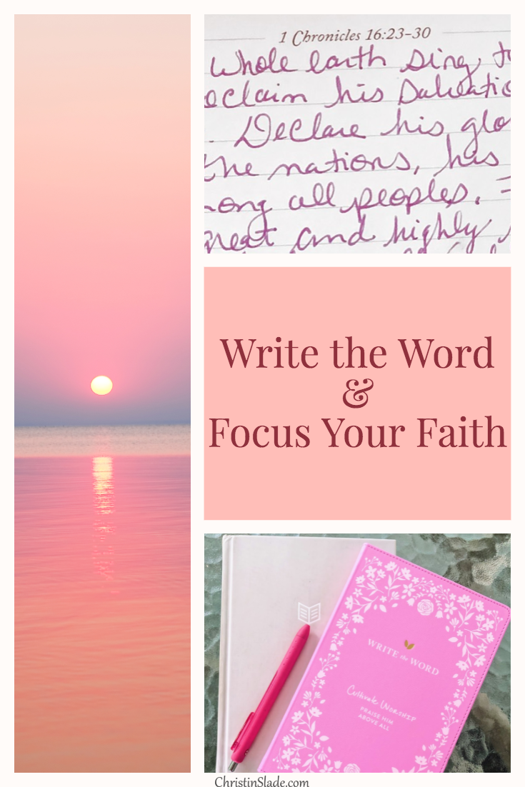 Freshen up your faith as we close the door on summer and open a new beginning with new possibilities!  Grab your Write the Word journal here!