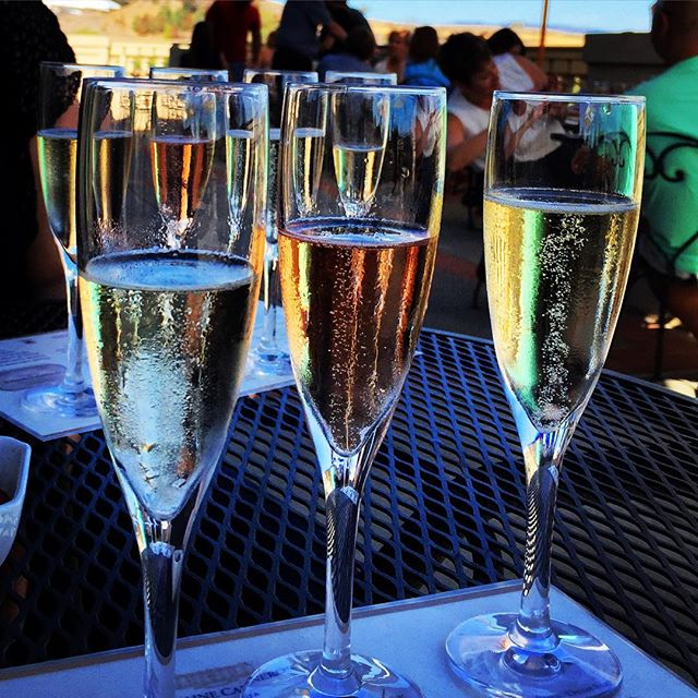 The season of all that sparkles. #champagne #domainecarneros  #concierge #winetour #vacation #letusdothework #enjoynapa #holidays #sparkles #festive #toast