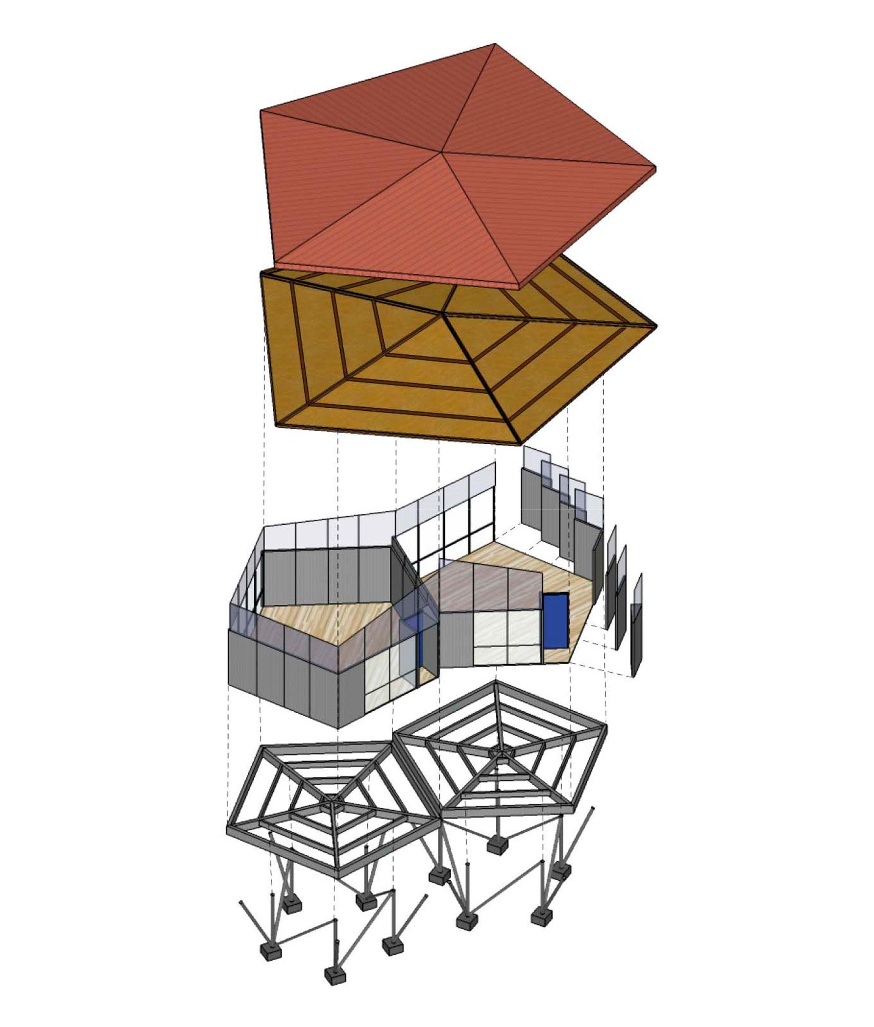 Fig.10: Despiece célula y manto.