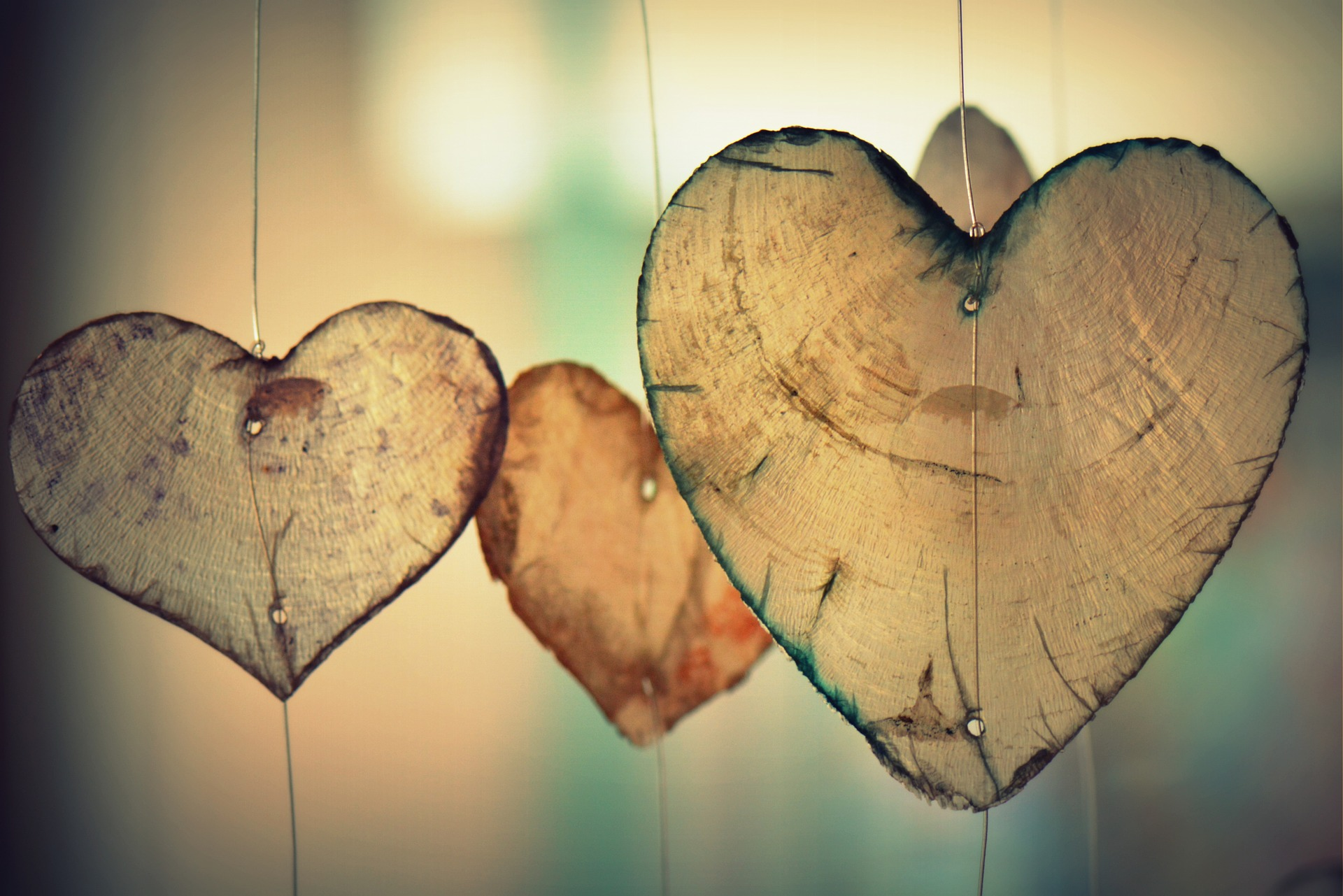Heart shaped decorations